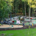 Wide view of Whiting Forest of Dow Gardens Playground
