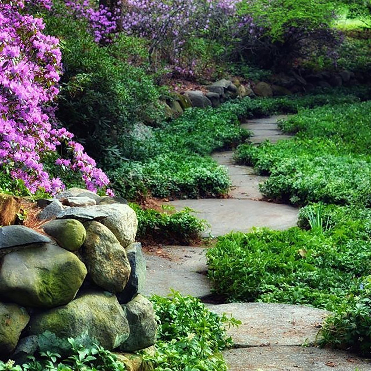 Paver path at Dow Gardens